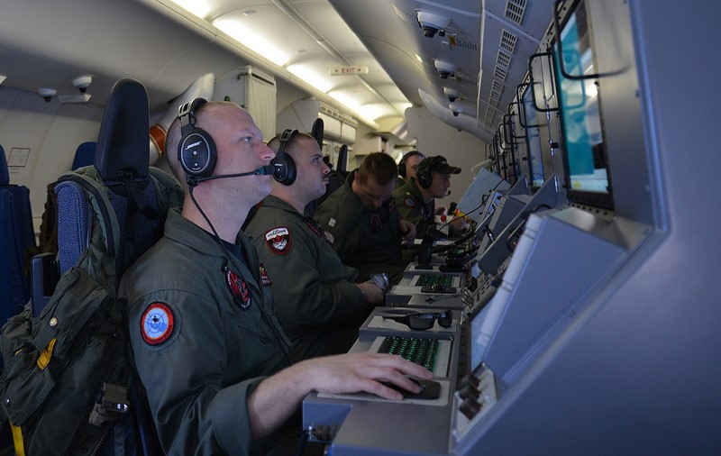 P-8 Poseidon naval personnel man their work stations during the search for MH370, While China's navy lacks the capability of the United States, its public diplomacy is growing more sophisticated. Source: Official U.S. Navy Imagery, U.S. Government Work.