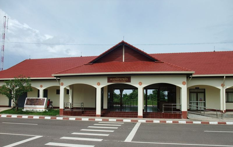 Thanaleng Train Station outside Vientiane, currently the only major railway station in Laos. A joint China-Laos high speed rail line is in development, yet concerns over cost remain. Source: Wikimedia user Hiroo', used under a creative commons license.