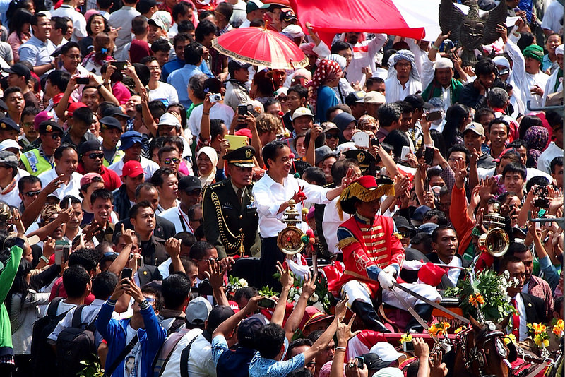 Indonesia's Jokowi at his inauguration on October 21, 2014. Source: Kreshna Aditya 2012's flickr photostream, used under a creative commons license.