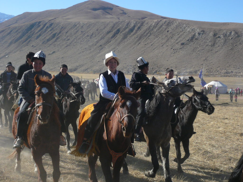 Kyrgyz prepare to participate in equestrian games. Kyrgyzstan celebrates the 25th anniversary of independence from the Soviet Union on September 1, 2016. Source: Photo copyright Jonathan Hillman, used with permission.
